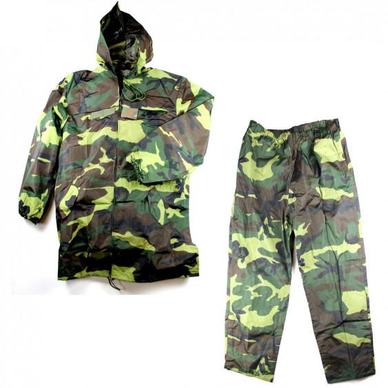 Completo impermeabile Policroma Camo Esercito Italiano giacca pantalone