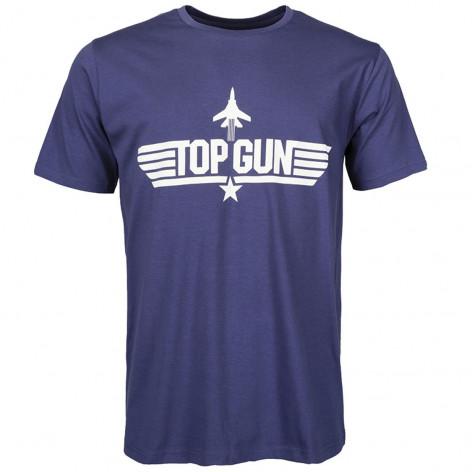 T-Shirt TOP GUN Blu
