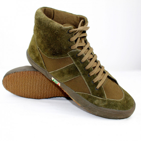 High gym shoes original italian army suede oliv green sneakers