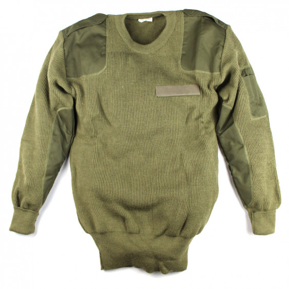 Sweater pullover original Italian Army OD Khaki NEW Size L