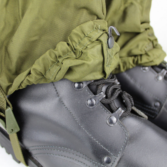Nylon gaiters original Italian Army OD cordura lace hook