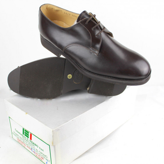 Brown Classic Shoes original Italian Army uniform made in Italy