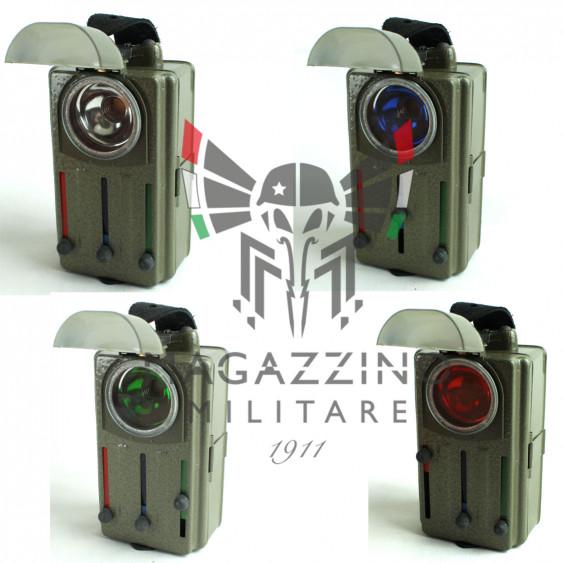 Czech Army 3-Colour Signal Flashlight filters