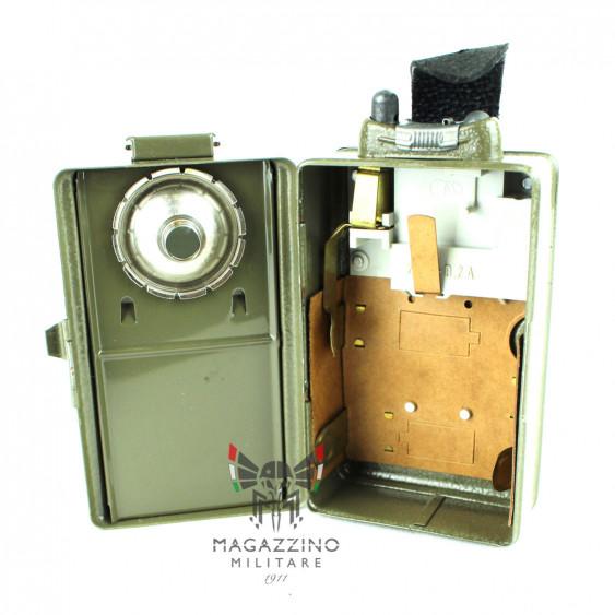 Czech Army 3-Colour Signal Flashlight inside