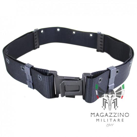 Quick release tactical military belt, BLUE Cordura Carabinieri Security Guards Police