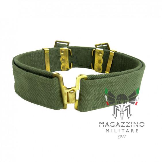 Cinturone Verde Esercito Italiano canapa ORIGINALE ottone NUOVO
