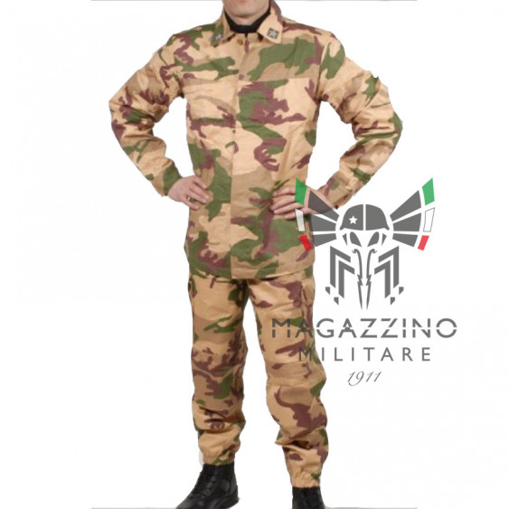 Original Desert camouflage uniform Italian Army Jacket and trousers NEW