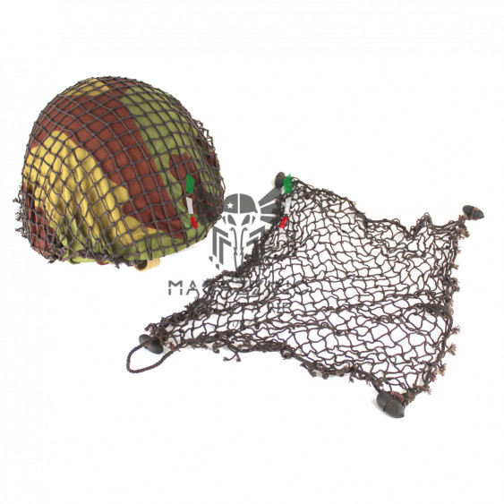 Camouflage net for Italian helmet M33 acorns