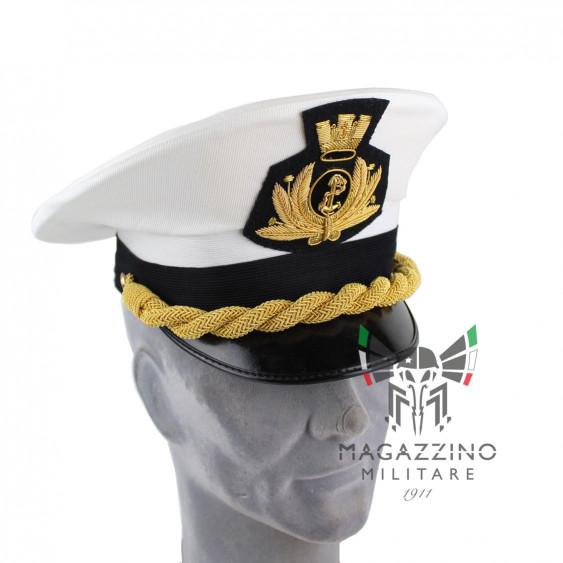 Original Italian Navy official white hat