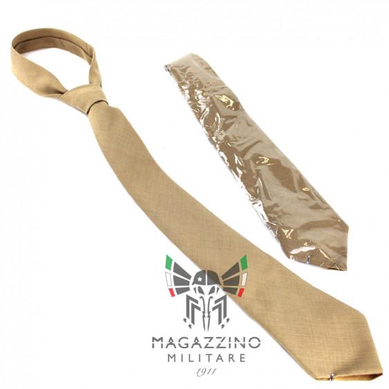 Khaki hazelnut summer wool-terital tie Original Carabinieri NEW