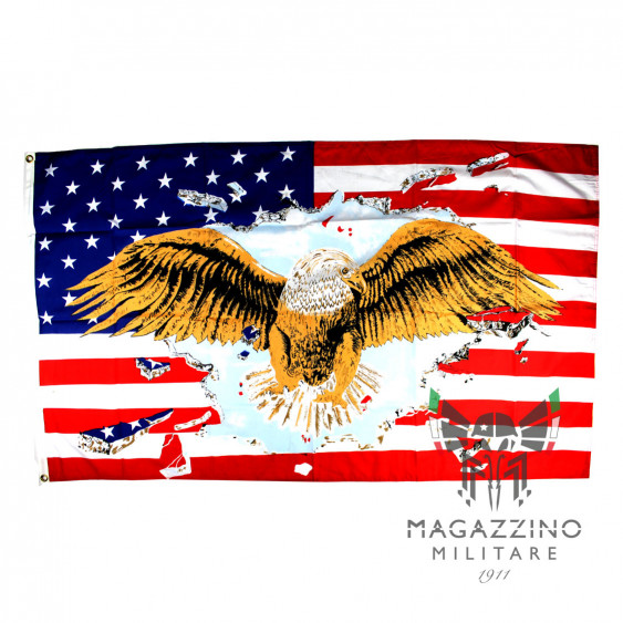 Bandiera USA aquila nylon 90x150cm