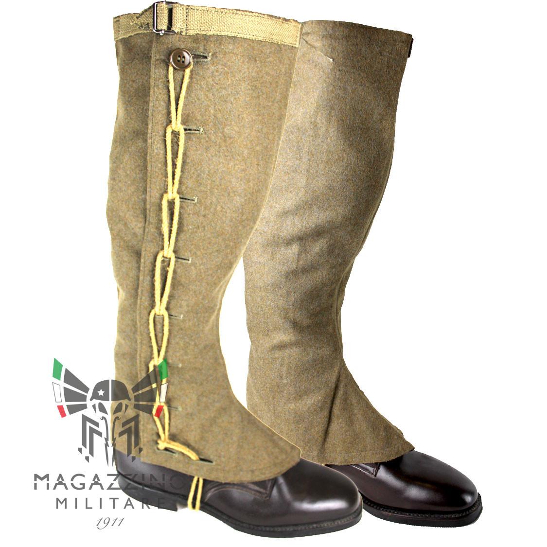 Gaiters wool genuine original Italian Army