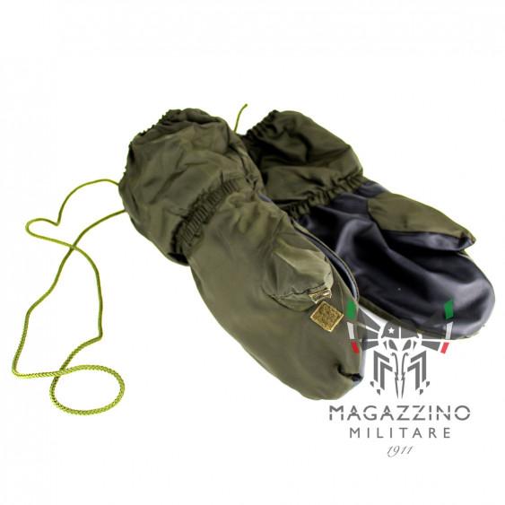 Guanti Moffole Nylon Pelle Originali Esercito Italiano imbottiti Alpini