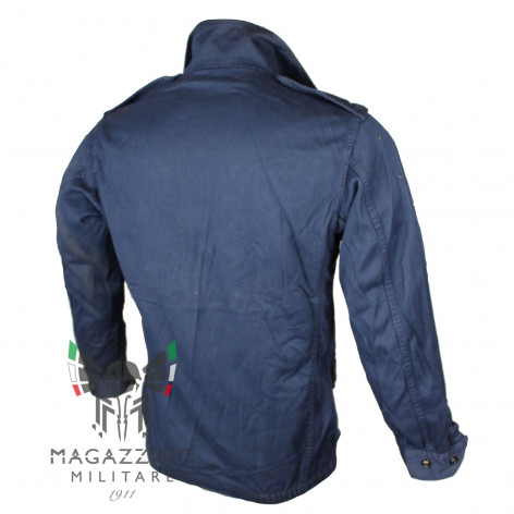 Original French army F1-F2 jacket in BLUE color back