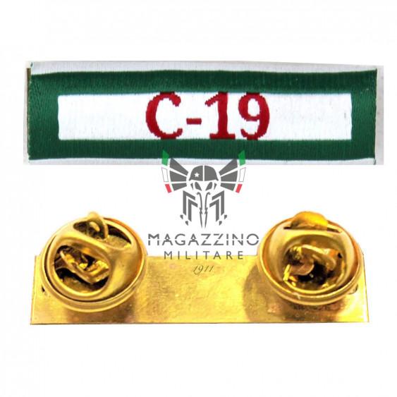 Fabric ribbon Covid 19 Polizia di Stato ribbons medalion