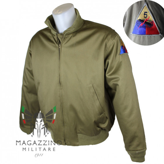 Giubbotto Carrista Bomber US con patch