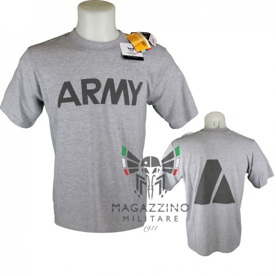 T-shirt ARMY Originale Esercito Americano Grigia traspirante manica corta