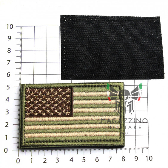 Arm Patch USA flag Emboidered 8.2x5.2cm MULTICAM