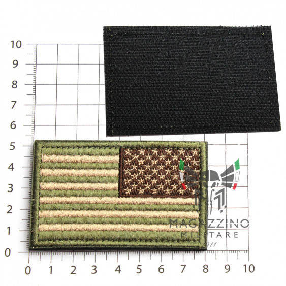 Arm Patch USA flag Emboidered 8.2x5.2cm MULTICAM REVERSE