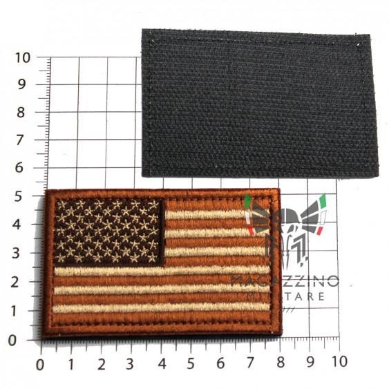 Arm Patch USA flag Emboidered 8.2x5.2cm DESERT