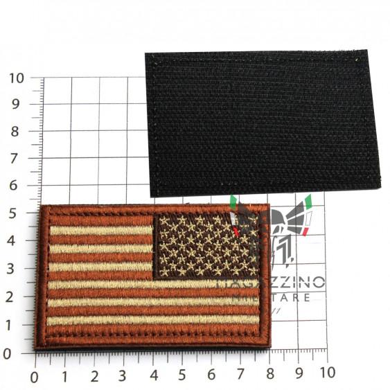 Arm Patch USA flag Emboidered 8.2x5.2cm DESERT REVERSE