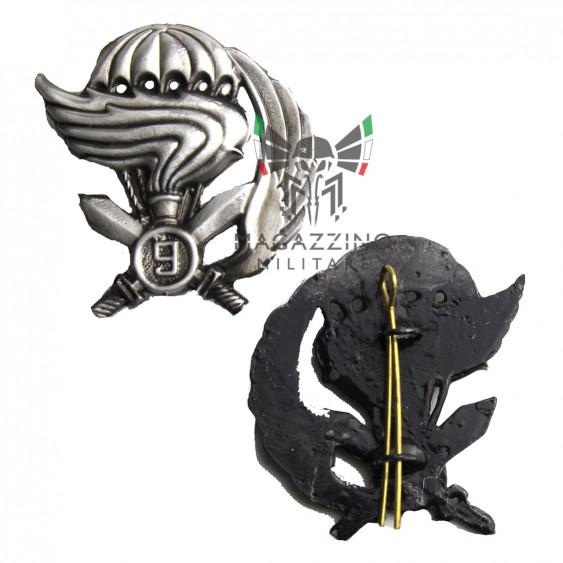 Beret metal insigna 9th Col Moschin Special Force New original