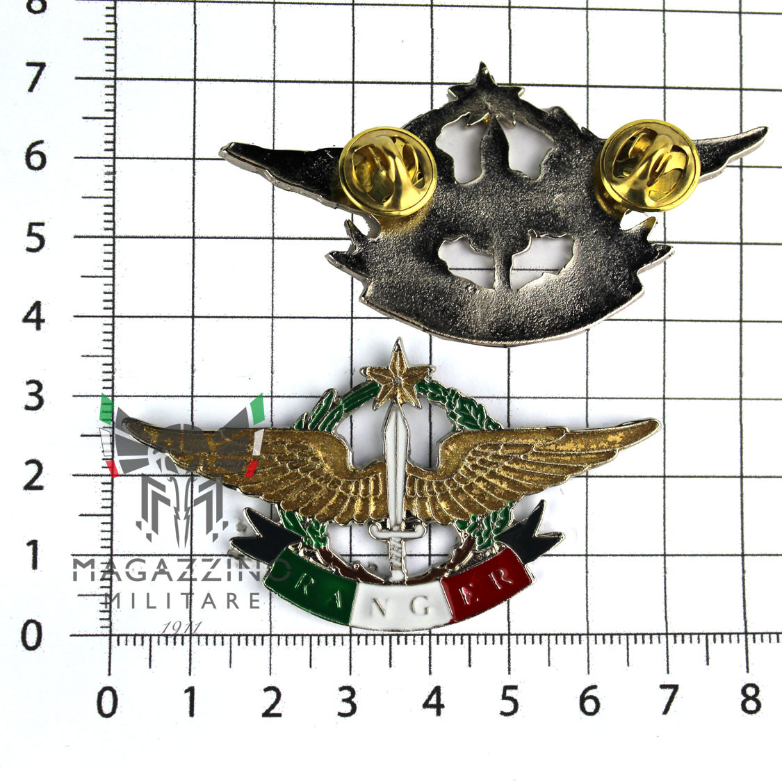 PINS MILITARY Insigna PIN OF PARATROOPERS 4th REGIMENT ALPINI RANGER