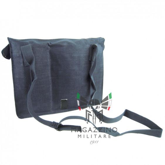 Breadbag Shoulder bag in hemp and leather Aeronautica militare Original NEW back