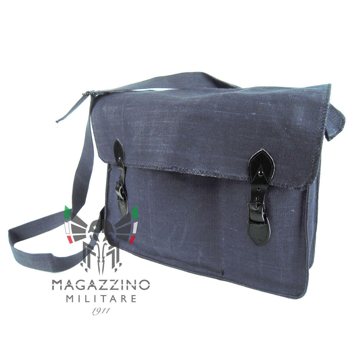 Breadbag Shoulder bag in hemp and leather Aeronautica militare Original NEW