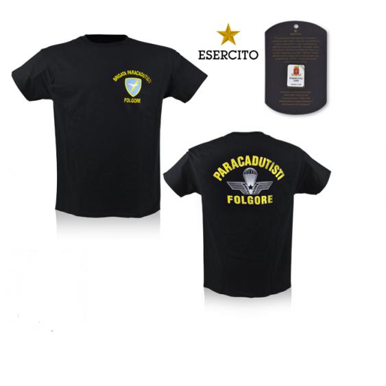 T-shirt paratrooper Folgore Black