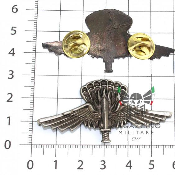 Brevetto Paracadutisti metallo Incursori Halo 9° Col Moschin argento Vecchio 2pin
