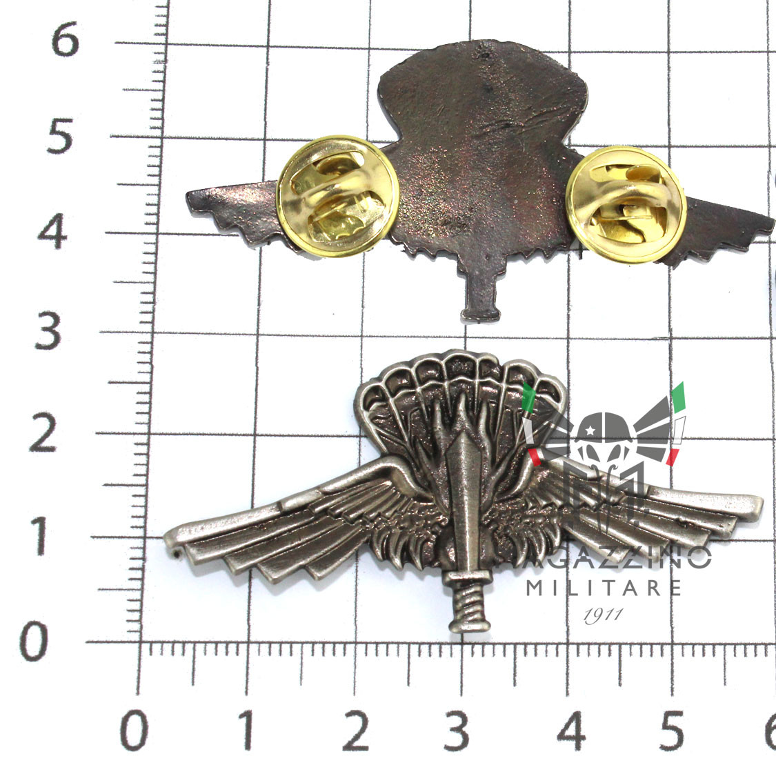 Patent Paratroopers metal Incursori Halo 9 ° Col Moschin silver Old 2pin