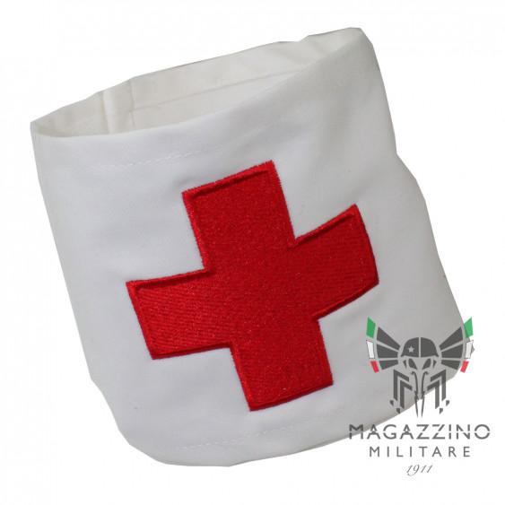 Fascia Netralità Croce Rossa Militare Esercito regolabile con strappo misure 42x12 circa