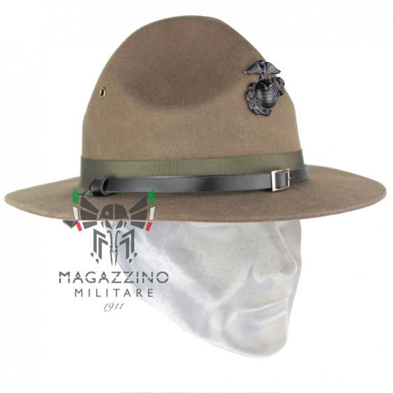 Cappello US Marine Corps Istruttore Hartman, fregio ORIGINALE