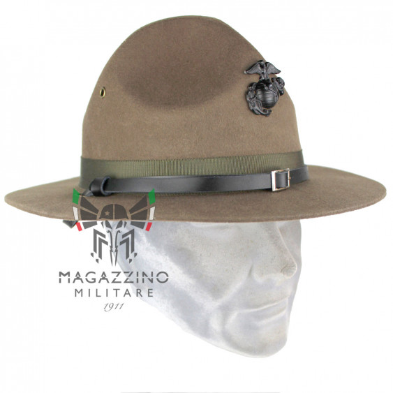 US Marine Corps Instructor wool Hartman hat, Original insignia