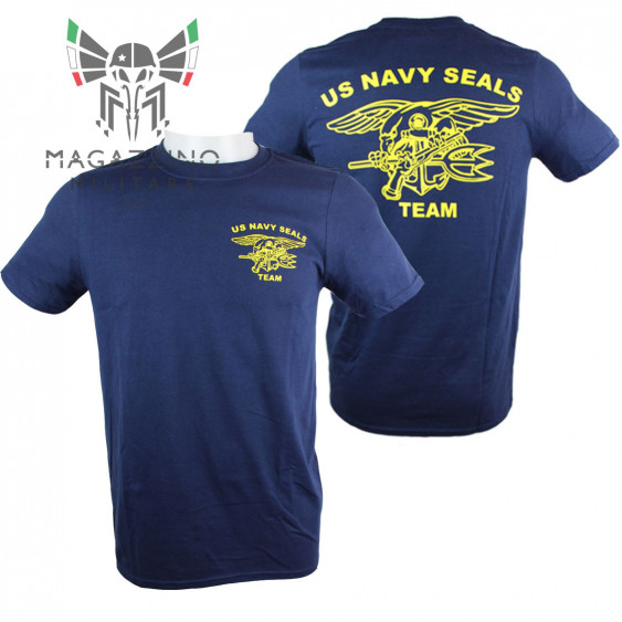 Military T-Shirt US Navy Seals Team Blue