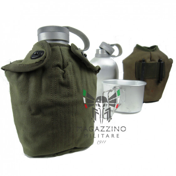 Original Italian Army Canteen with thermo lining and Complete NEW *